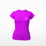 women_s tee L.I. logo (purple white)