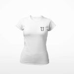 women_s tee L.I. logo (white black)
