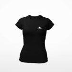 women_s tee Single Plane logo (black white)