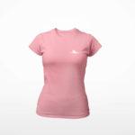 women_s tee Single Plane logo (pink white)