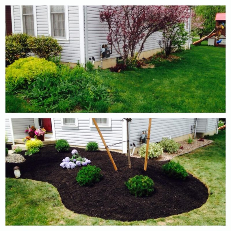 Landscaping renovations remove existing overgrown landscapes and replace them with a more manageable landscape.   Picture Lake Landscaping provides landscaping renovation services to Hamburg NY / Orchard Park NY