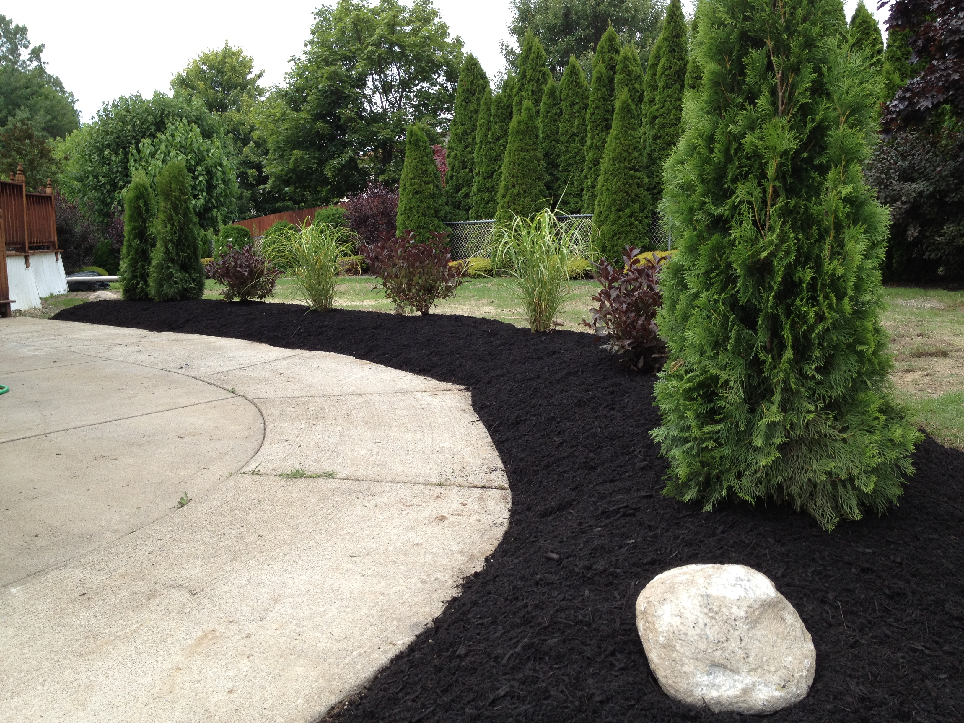 Fresh landscape installations can help define spaces.  Picture lake Landscaping provides landscaping services to Hamburg NY 14075 and Orchard Park NY 14127