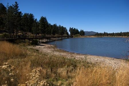 """Westward View from Baker Lake at Big Bear — the """"Marsh"""""""