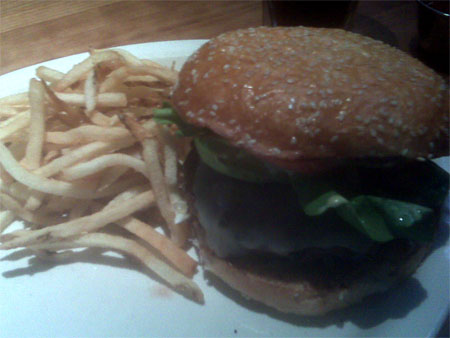 California Burger at Houstons in Santa Monica