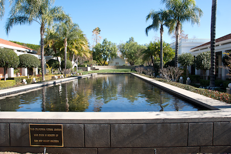 Reflecting Pool at the Nixon Library in Yorba Linda