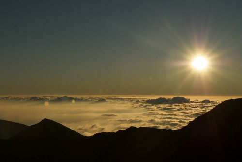 Sunrise at Haleakala Summit in January