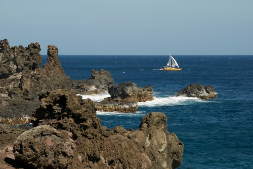 Sailboat and Lava