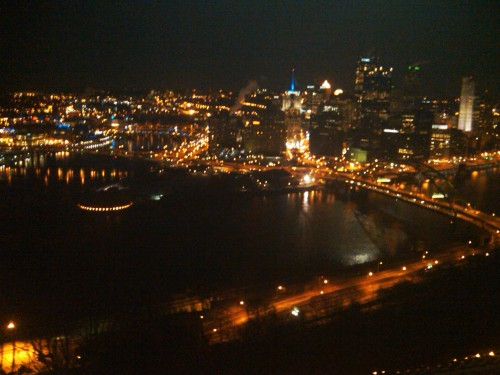 Pittsburgh at night from Washington Hill