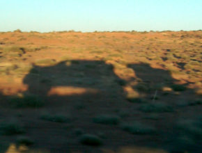 shadow of truck and trailer