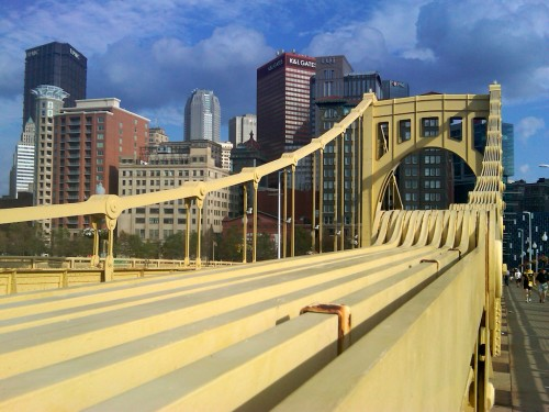 Roberto Clemente Bridge, Downtown Pittsburgh