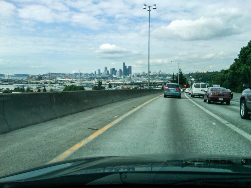 I-5 heading into Seattle