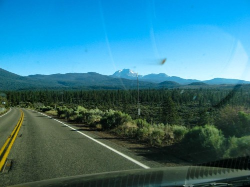 Approaching Mt. Lassen