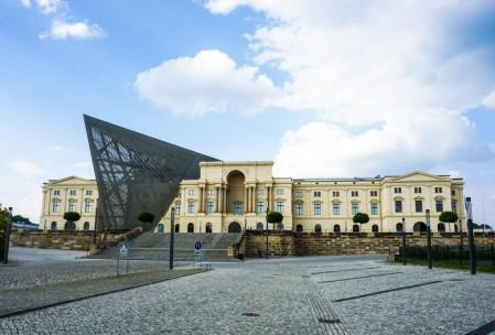 Facade of the Military Museum. Symbolic architectural flourish!