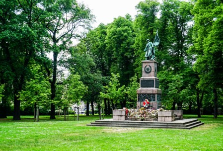Soviet war memorial in the vicinity of the military museum.