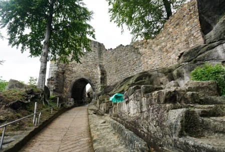 Path to the entry gate.