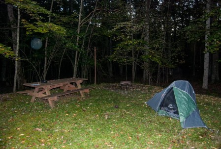 Campsite, somewhere in WV.