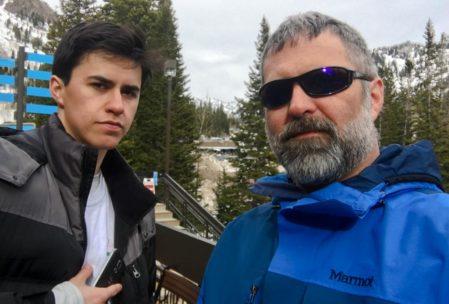 Après-ski with Jacob.