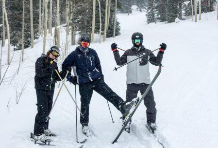A good snow afternoon at Solitude; skiing socially.