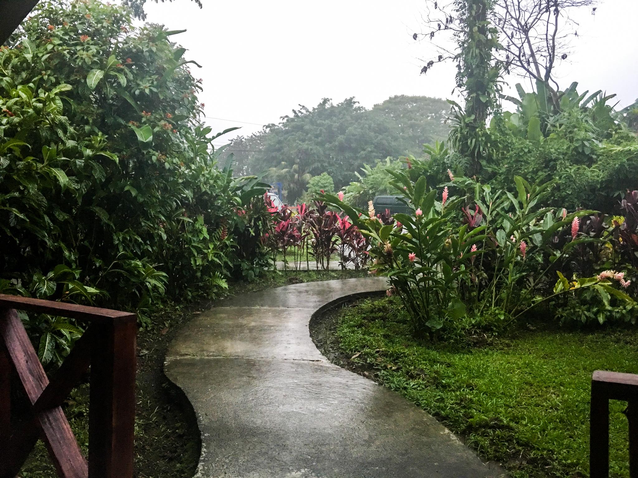 It didn't always rain. But often it did.
