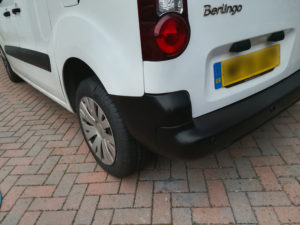Van Damage Back Corner Repaired