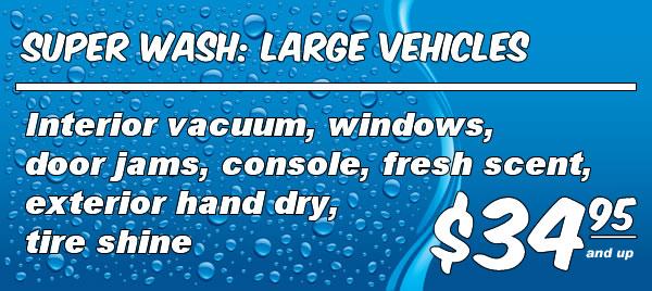 Full Service Wash: Large Vehicles