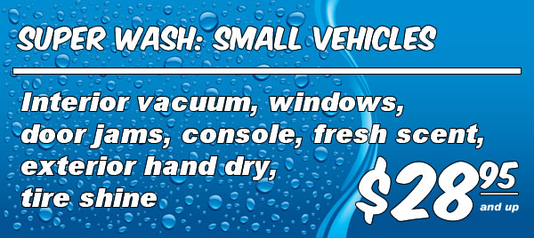 Full Service Wash: Small Vehicles