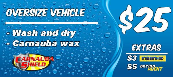 Oversize Vehicle: Express Wash