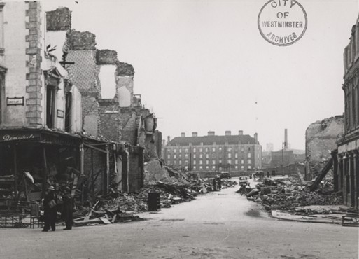 Bomb Damage to Sutherland Terrace (Copyright: Westminster City Archives)