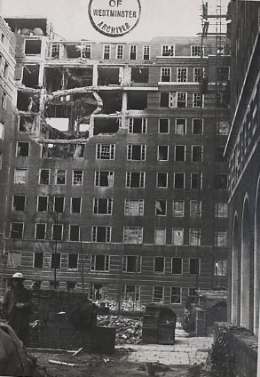 Damage to Frobisher House - 1940 (Copyright: Westminster City Archives)