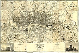 London Map by Greenwood - 1827
