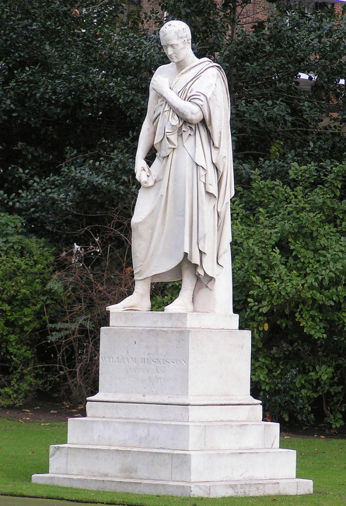 The Huskisson statue - Pimlico (Photographed by James Gray, 8th February 2006)