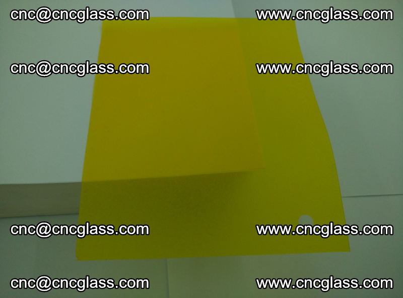 Eva glass laminating interlayer foil film Transparent clear color (lemon yellow membrane) (1)
