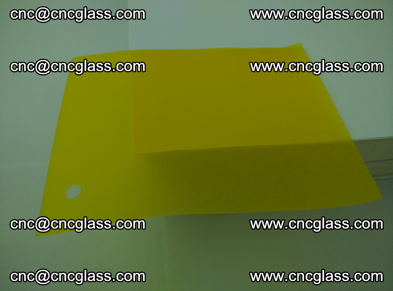 Eva glass laminating interlayer foil film Transparent clear color (lemon yellow membrane) (11)