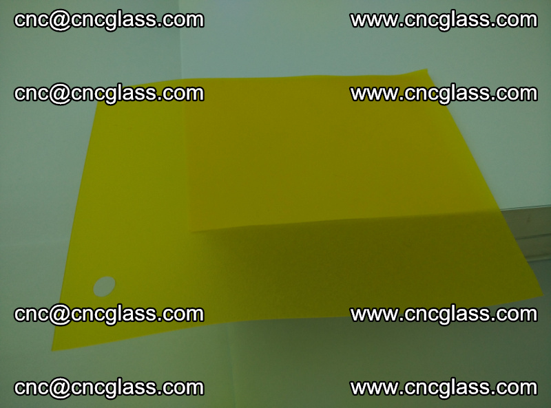 Eva glass laminating interlayer foil film Transparent clear color (lemon yellow membrane) (12)