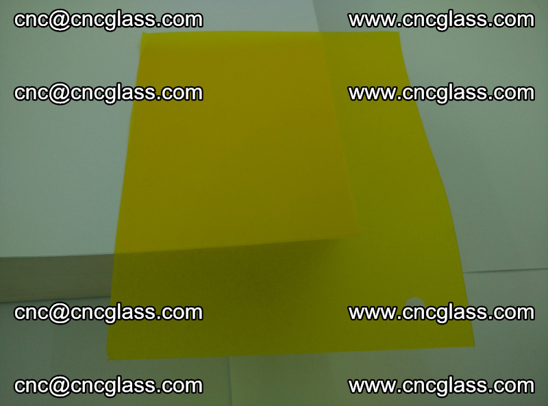 Eva glass laminating interlayer foil film Transparent clear color (lemon yellow membrane) (3)