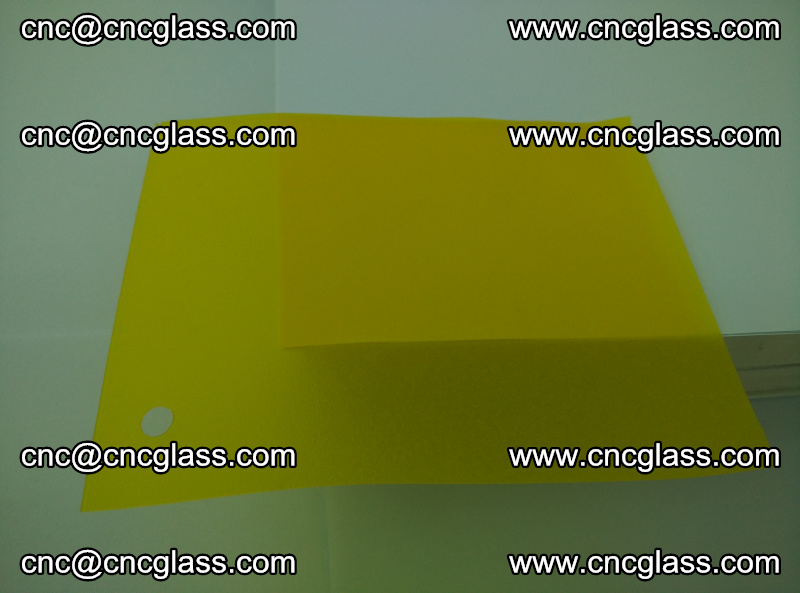 Eva glass laminating interlayer foil film Transparent clear color (lemon yellow membrane) (4)