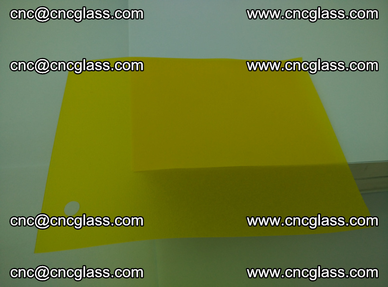 Eva glass laminating interlayer foil film Transparent clear color (lemon yellow membrane) (5)