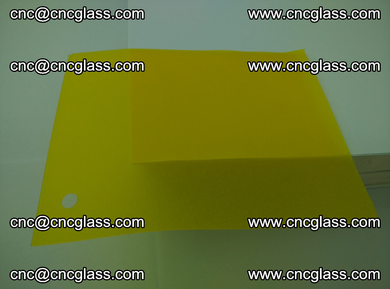 Eva glass laminating interlayer foil film Transparent clear color (lemon yellow membrane) (6)