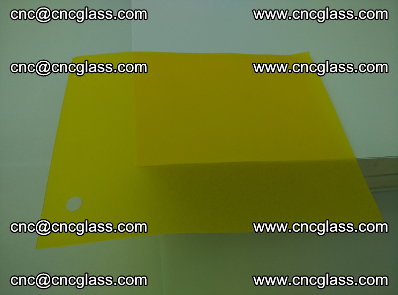 Eva glass laminating interlayer foil film Transparent clear color (lemon yellow membrane) (7)