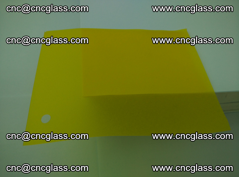 Eva glass laminating interlayer foil film Transparent clear color (lemon yellow membrane) (8)