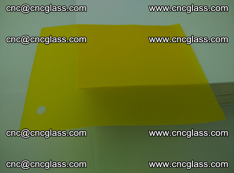 Eva glass laminating interlayer foil film Transparent clear color (lemon yellow membrane) (9)