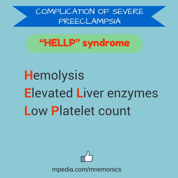 Complication of severe preeclampsia