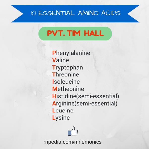 10 essential amino acids
