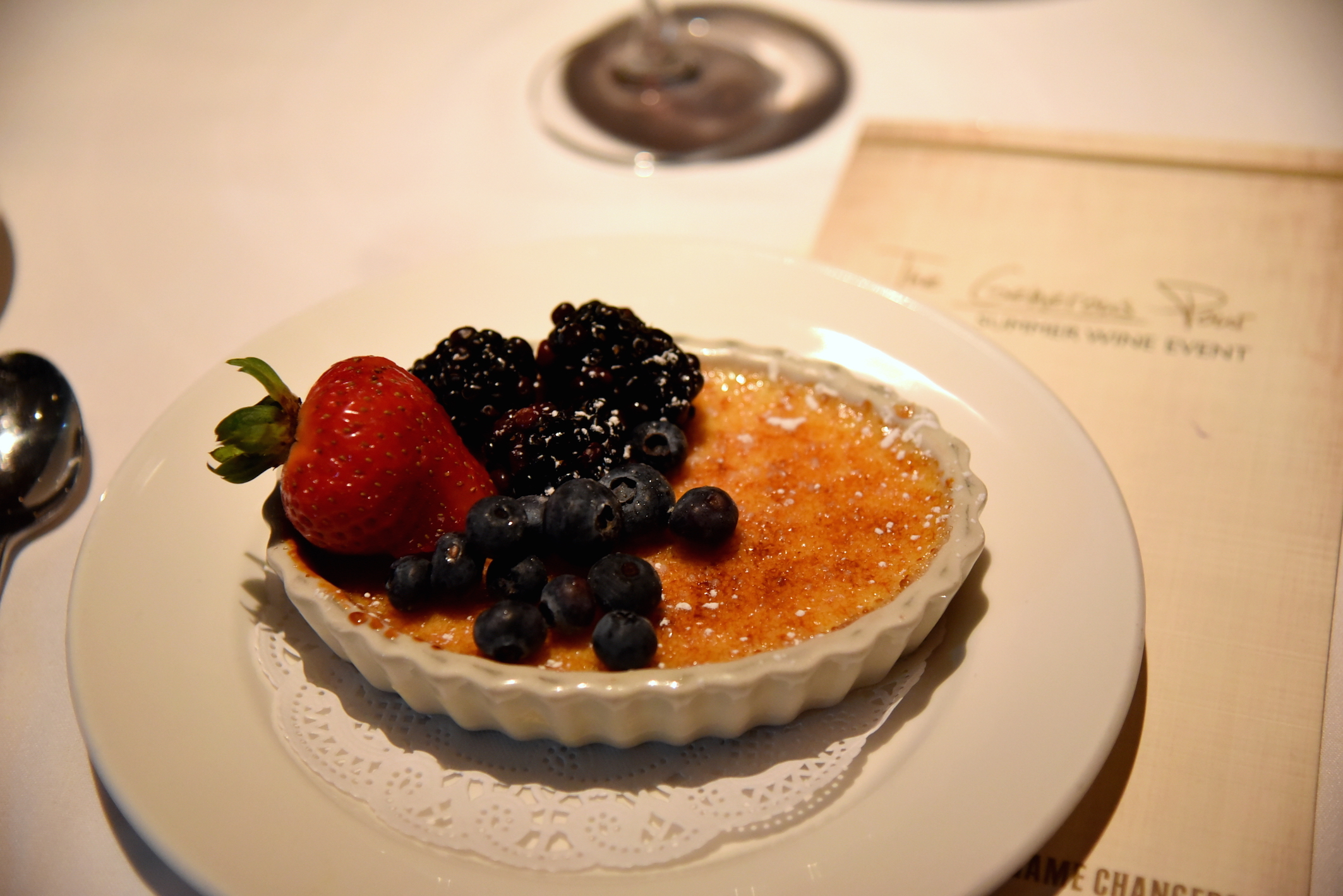 Best crème brulée in New York at the Capital Grille