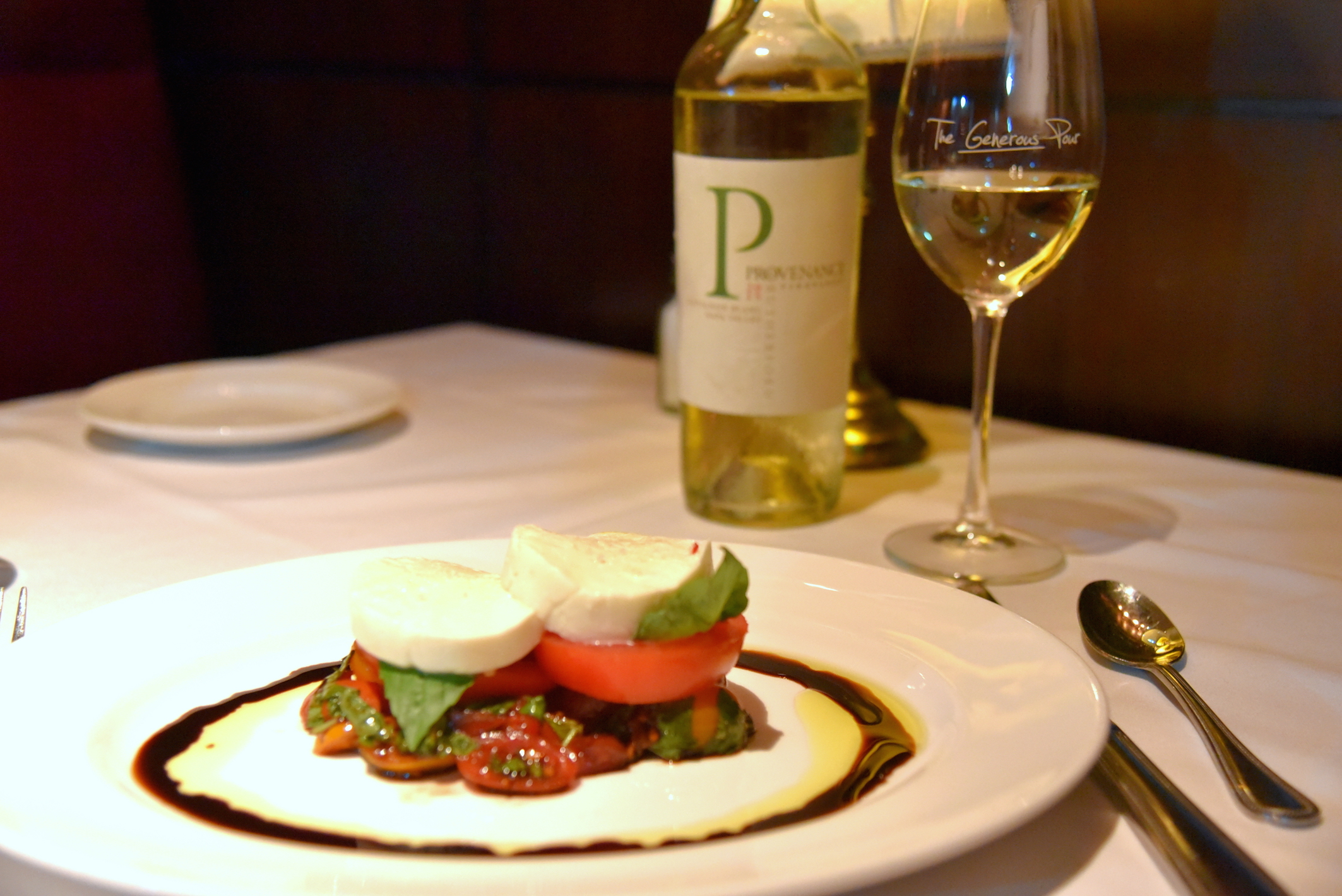 Homemade mozzarella at the Capital Grille NYC
