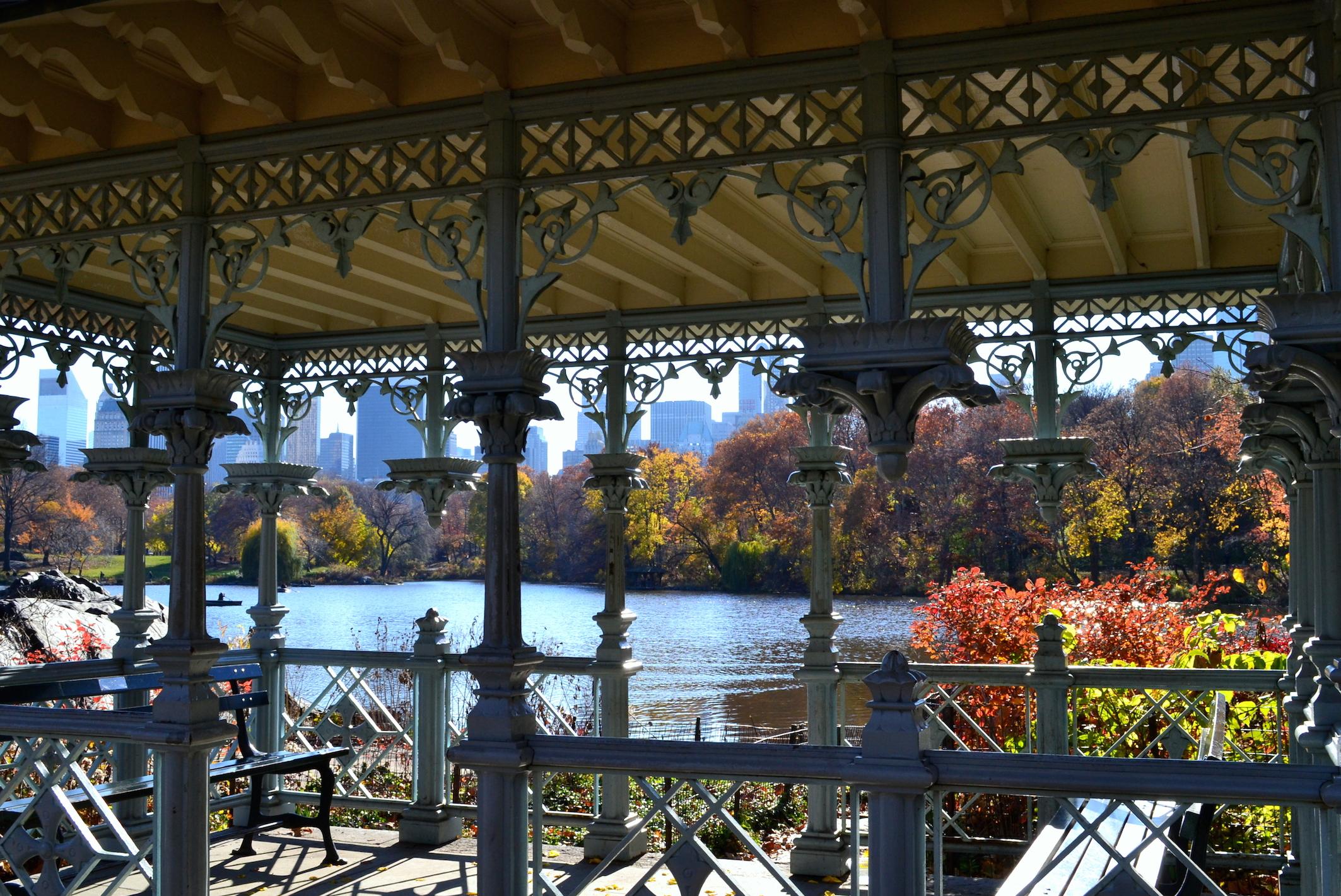 Central Park Lake NYC Foliage photos