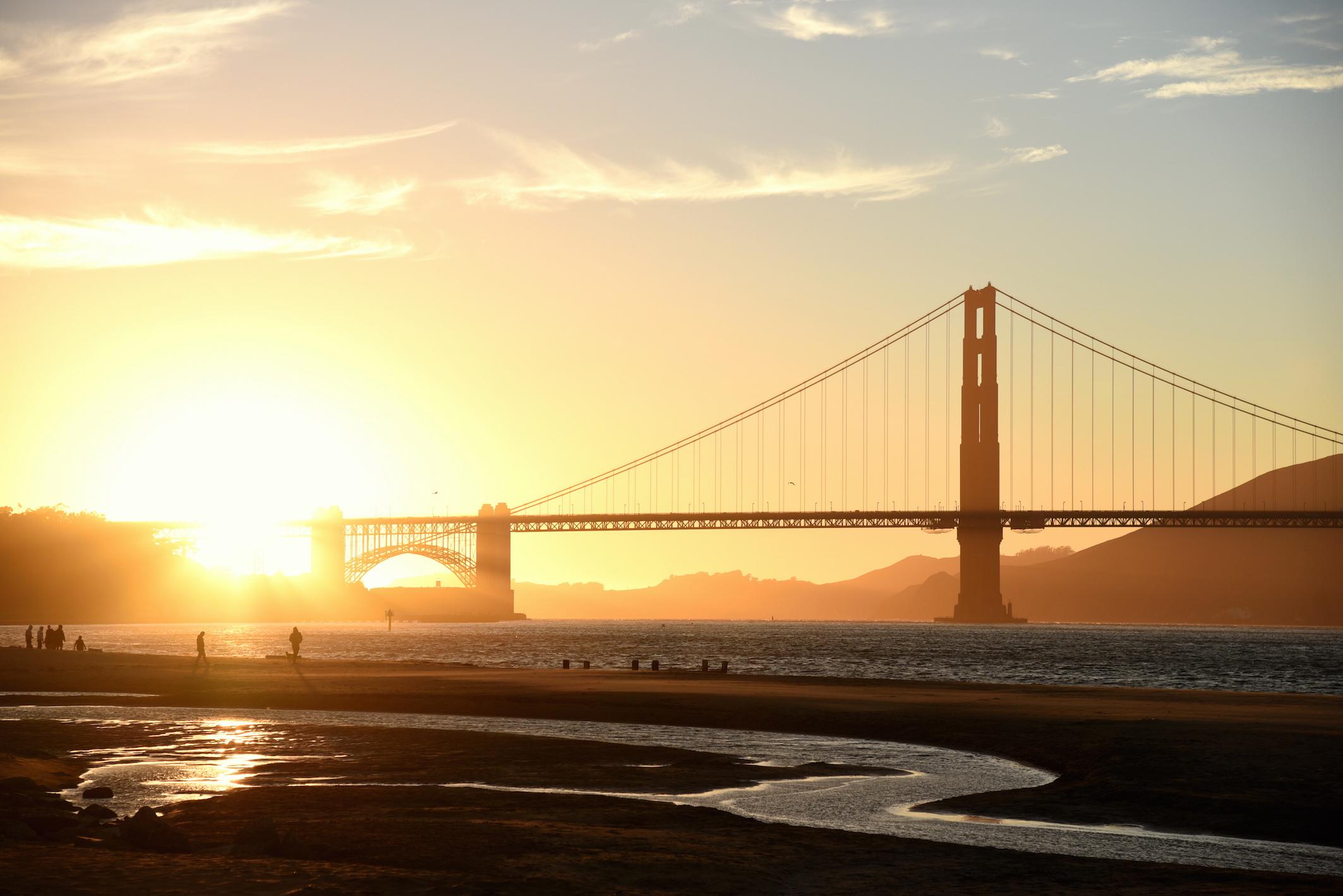 Watch the Sunset over the Golden Gate Bridge San Francisco