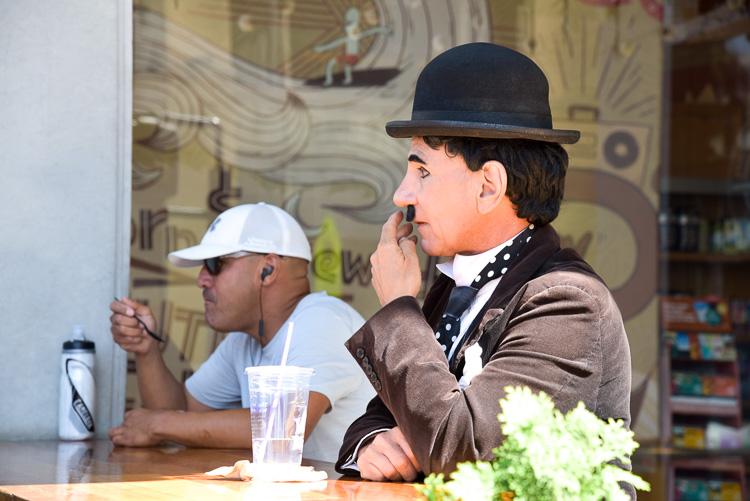 Charlie Chaplin Los Angeles Hollywood Boulevard
