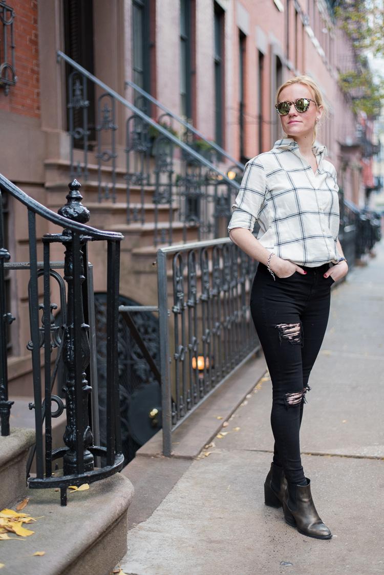 Flannel shirt OOTD Fashion blogger New York