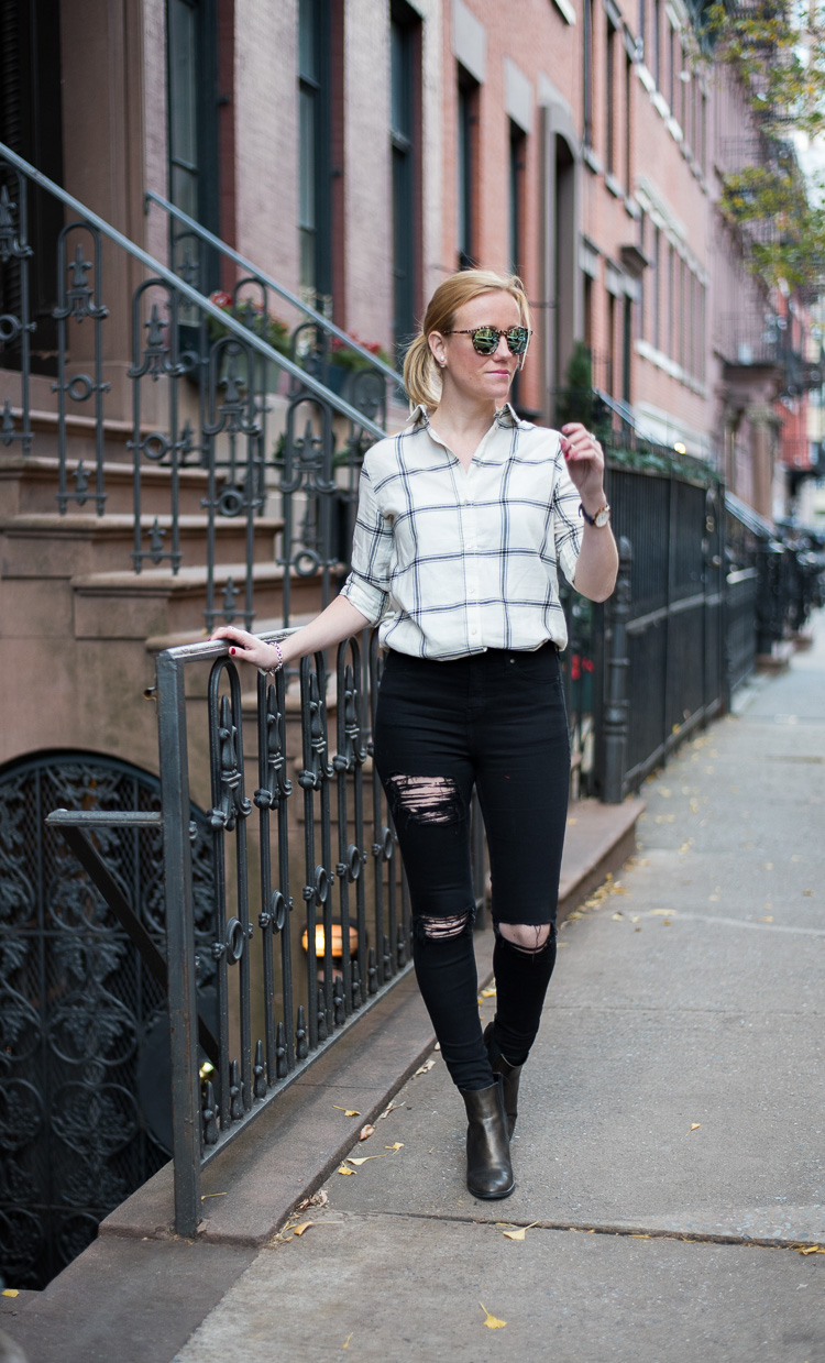 Shooting in the West Village Outfit Fashion blog New York